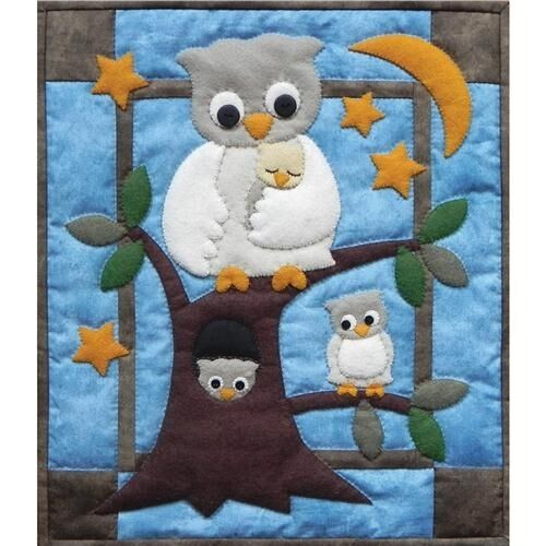 Rachel's Of Greenfield Owl Family Wall Hanging Quilt Kit - 051054