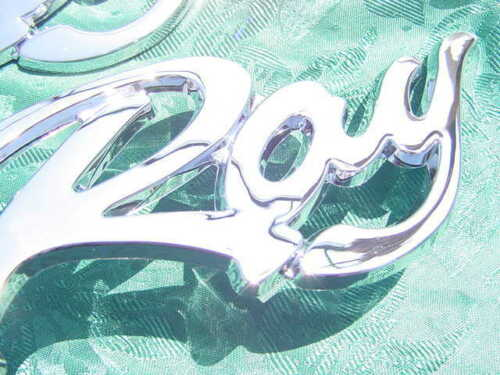 NEW !!! 2 SEA RAY SEARAY EMBLEM CHROME NEW PEEL /& STICK FACTORY GENUINE PAIR
