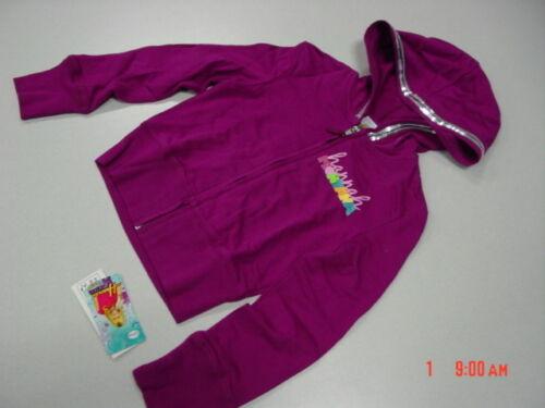 NWT Hannah Montana Purple Zippered Hoodie Sequins Graphic Logo