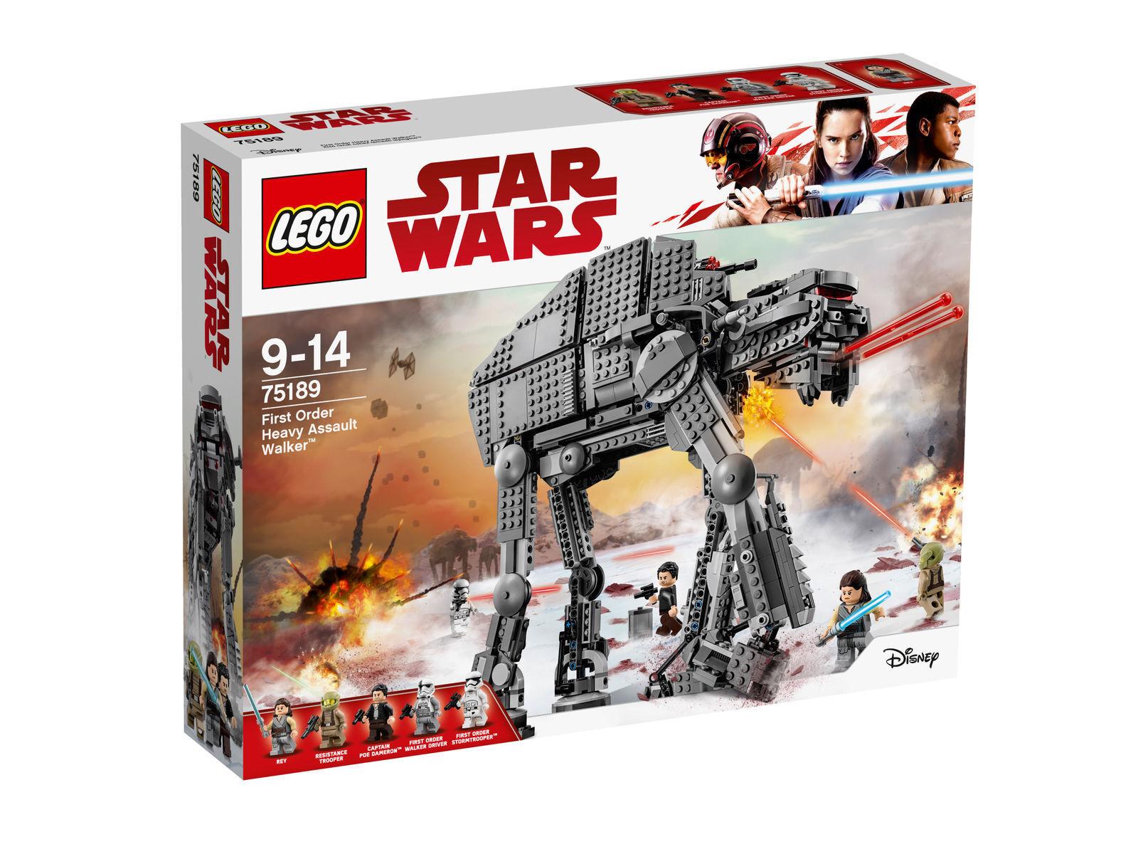 Lego Star Wars 75189 First Order Heavy  Assault Walker avec toutes les figurines neuf neuf dans sa boîte  excellent prix