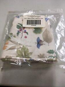 Longaberger-2000-Large-Easter-Basket-Liner-Botanical-Fields-Fabric-amp-Bows-NEW