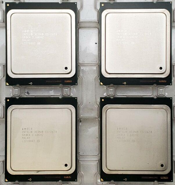 Lot of 18 SR0KX Intel Xeon E5-2670 8-Core 2.6GHz 20MB L3 Cache LGA2011 Processor