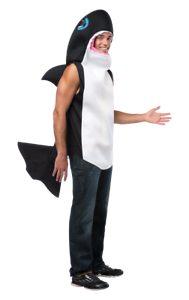 Adult Killer Whale Sea Animal Free Willy Novelty Funny Fancy Dress Costume