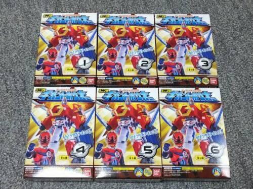 BANDAI Kyuranger Mini Pla 04 Gigant Ho-oh Hooh Houou All 6 type set complete