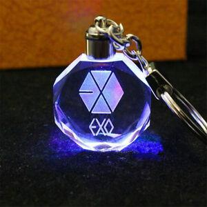 KPOP-EXO-Keychain-Baekhyun-Sehun-KAI-DO-LED-Light-Key-Chain-Keyring-Crystal-hot