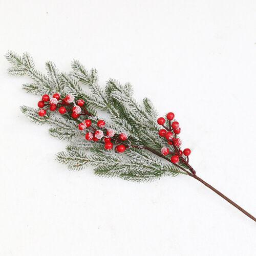 Christmas Artificial Branches Flower Pine Plants Xmas Tree Ornament Home Decor