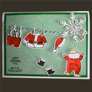 Merry Christmas Santa Claus Stamps Card Making ...