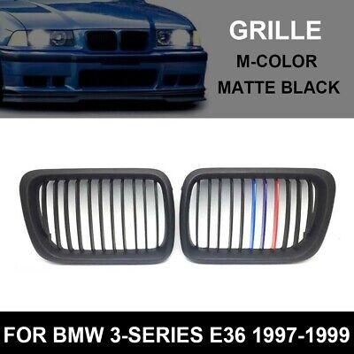 Für BMW E36 3er Nieren Kühlergrill Front Grill Black Shadow Matt Schwarz M 90-96