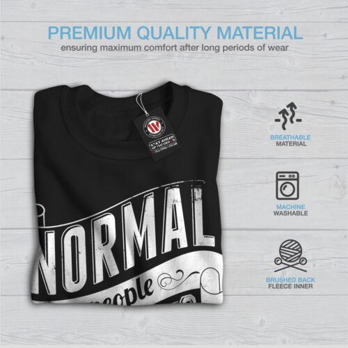 Slogan Men Black New Weird Is Normal Sweatshirt fBFESx