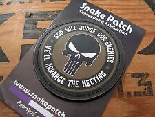 Snake patch PVC - OD - PUNISHER god will judge our enemies SCRATCH OD kaki