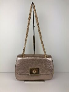 62254439ec9e Image is loading COACH-CASSIDY-Crinkle-Metallic-Leather-Chain-Shoulder-Bag-