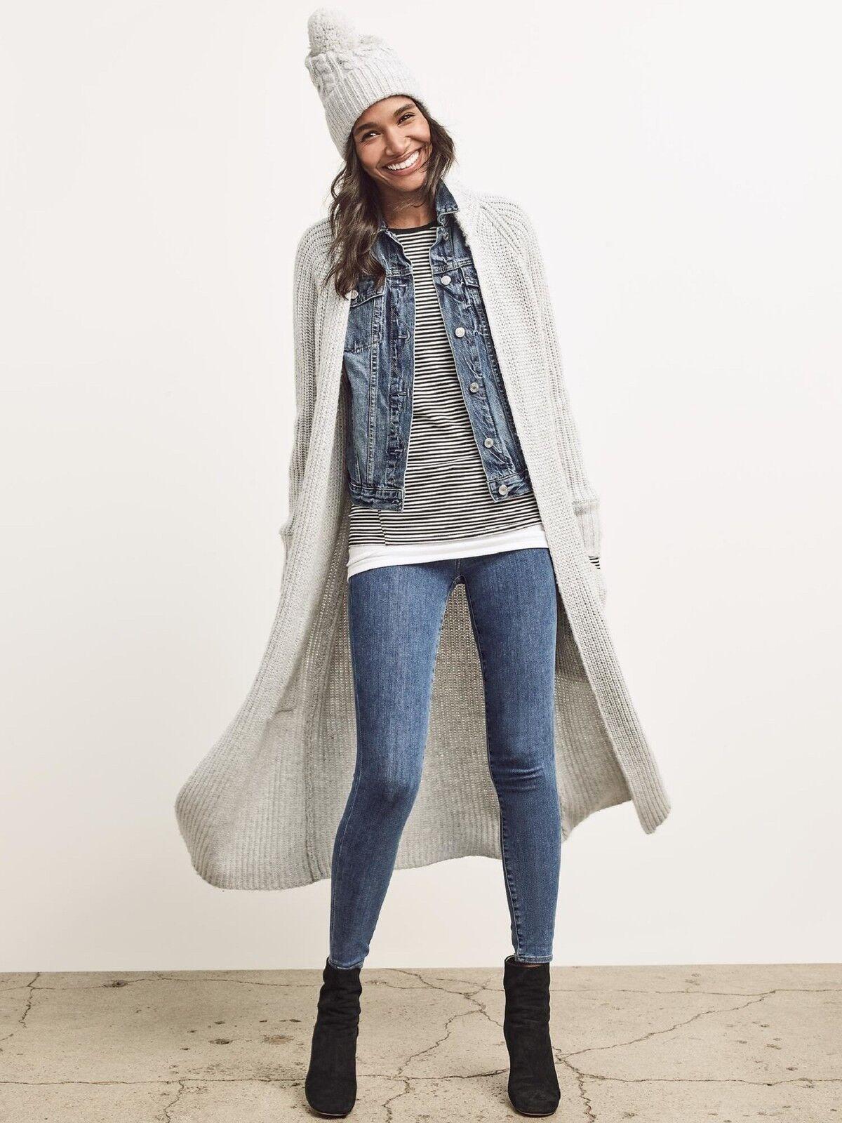 Gap Maxi Shaker Cardigan Sweater in Heather Grey NWT  100 S