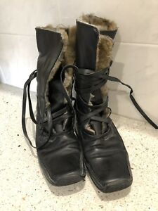 Ladies Wrap Fur Lined Leather Boots Russel 38 Bromley Soft Winter amp; Around Laced Ap1rqnA