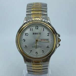 BRUT-TWO-TONE-EXPANDABLE-STAINLESS-STEEL-WATCH-38MM-LBX123