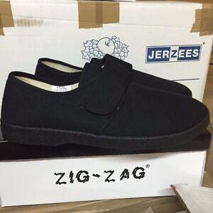 f729e7cca10 NIB ZIG ZAG CANVAS MEN SHOES BLACK WITH BLACK SOLE SIZES 6.5-13