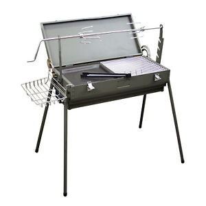 """Evelyne Portable Compact 24"""" x 11"""" Charcoal Barbecue BBQ Grill Outdoor Camping"""