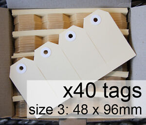 x40-SHIPPING-TAGS-size-3-plain-manilla-BUFF-Avery-swing-tags-labels-48-x-96mm