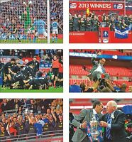 Wigan Athletic FA Cup Winners 2013 POSTCARD Set