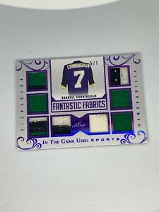 2018-Leaf-In-The-Game-Used-Fantastic-Fabrics-Randall-Cunningham-Relic-5-7