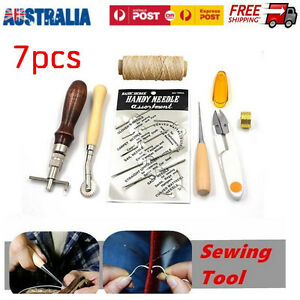 7pcs-Leather-Craft-Hand-Stitching-Sewing-Tool-Kit-Thread-Awl-Waxed-Thimb-Needlle