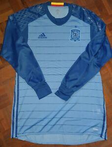 Spain-goalkeeper-player-issue-shirt-Casilla-De-Gea-Adizero-Madrid-match-worn