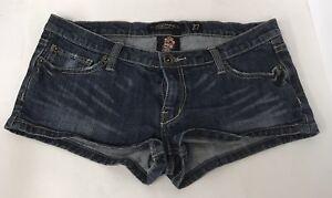 Ed-Hardy-Denim-Shorts-Women-Size-27-Blue