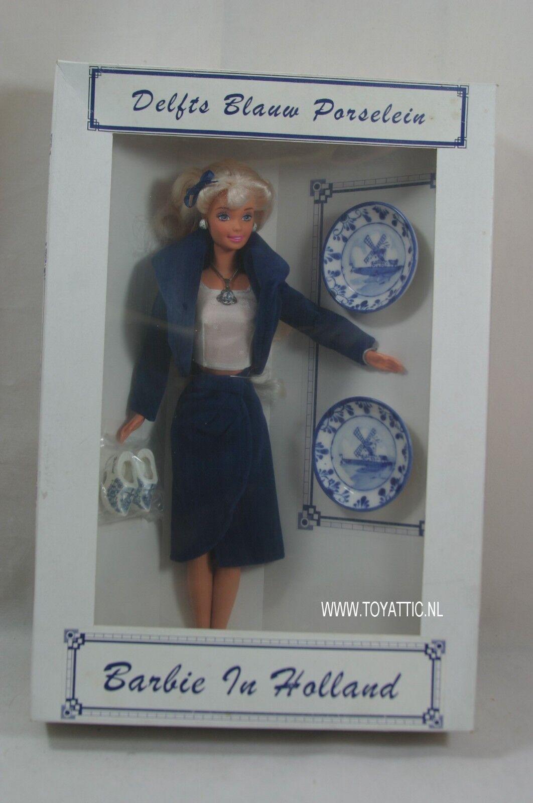 Convenio holandés muñeca Barbie en Holanda desde 1999 azul de Delft Países Bajos en Caja Original