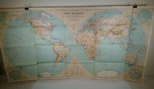 NATIONAL-GEOGRAPHIC-MAP-Original-1935-THE-WORLD-110cm-x-60cm