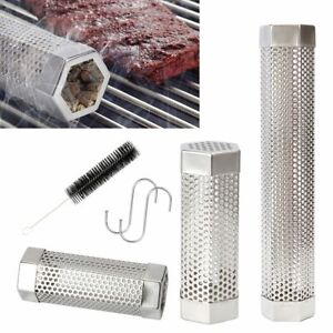 Mesh BBQ Smoke Generator Stainless Steel Barbecue Polygon Pellet Smoker Tube