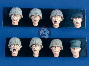 Verlinden-1-35-US-Marine-Corps-USMC-Soldier-Heads-WWII-Korea-8-heads-1755