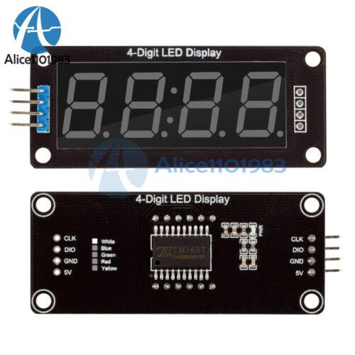 "White 0.56/"" inch TM1637 4-Bits Digital LED Clock Tube Display for Arduino"