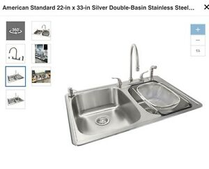 Image Is Loading American Standard Kitchen Sink Qk015 Includes Faucet