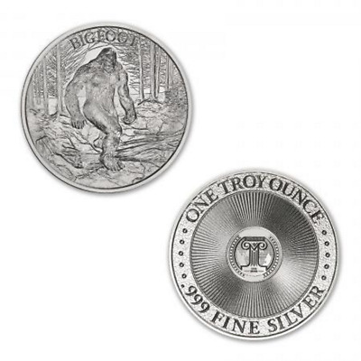 Cryptozoology Collection The Mermaid 1 oz .999 Silver USA Made BU Bullion Round