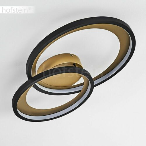 dimmbare LED Decken Lampe schwarz//Gold Wohn Schlaf Raum Beleuchtung Flur Leuchte