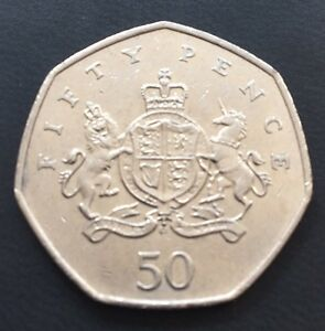 50p Coin 2103 Christopher Ironsides Royal Crest Shield Lion & Unicorn FREEPOST