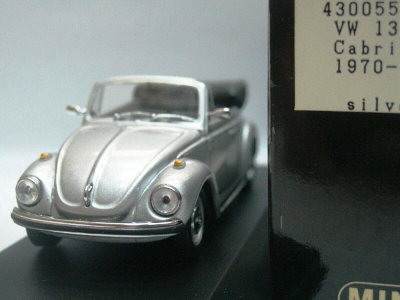 Wow extrêmement rare VW Beetle Käfer 1302 Cabriolet Argent 1970 m 1 43 Minichamps