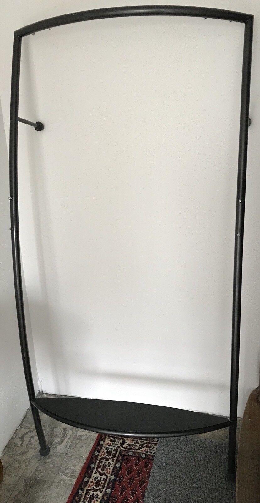Gaderobe   Wandgaderobe 92x31x184 schwarz grau | | | Ich kann es nicht ablegen  6bfab4