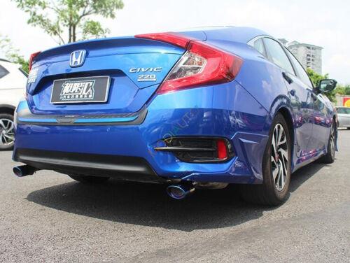 For Honda Civic 4dr Sedan 2016 2017 ABS Carbon Fiber Style Rear Fog Light Cover