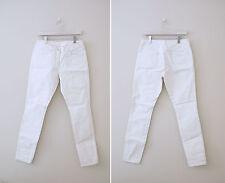 Maison Martin Margiela For H&M White Painted Jeans Womens Sz US8 (EUR 38)