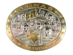 1836 - 1986 Texas Sesquicentennial Belt Buckle Rhodes Collectors Society 22816