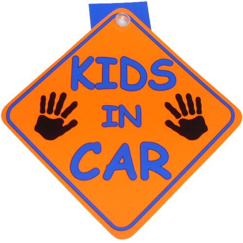 "/""KIDS IN CAR/"" CAR VAN DIAMOND WINDOW HANGER SUCTION SIGN FUNNY"
