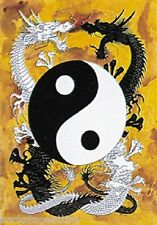 Novelty Yin Yang Dragon Flag Cloth Textile Poster Tapestry-New