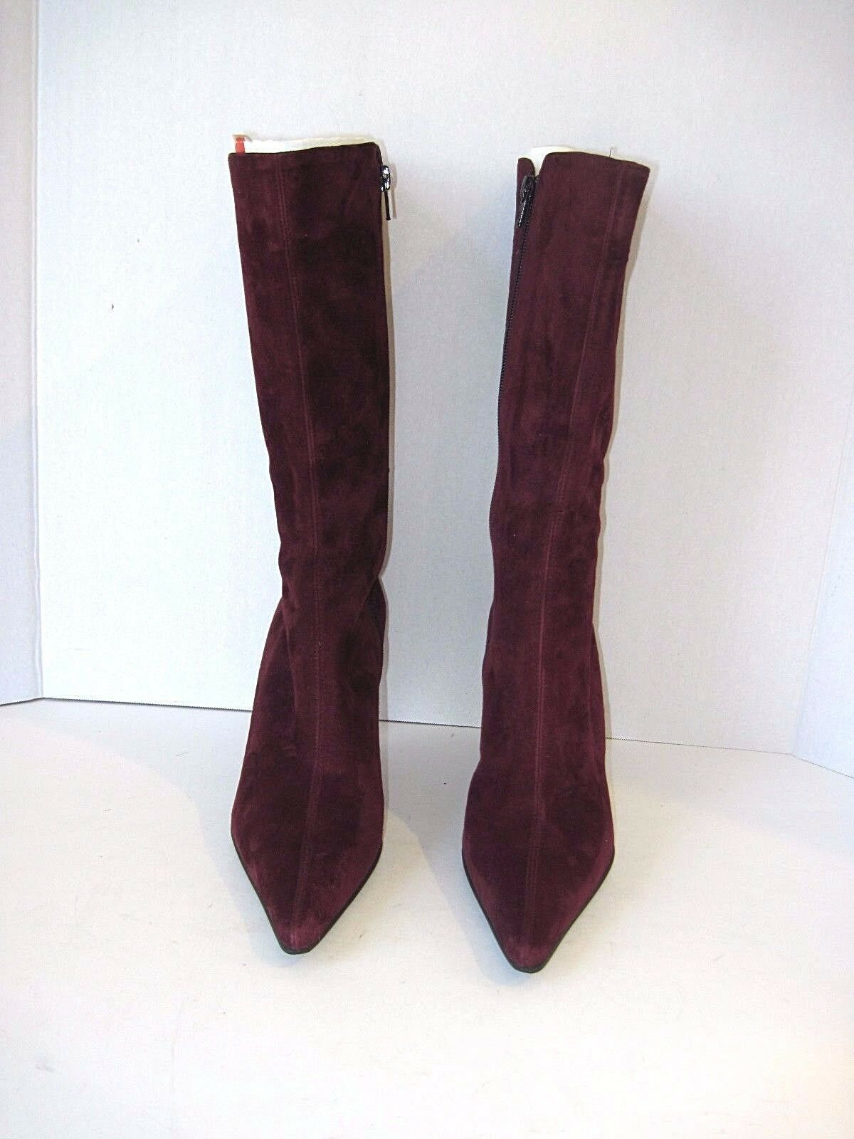 RUSSELL SIZE & BROMLEY LONDON PURPLE SUEDE BOOTS SIZE ZIP SIZE RUSSELL 39 ITALY 95dcad