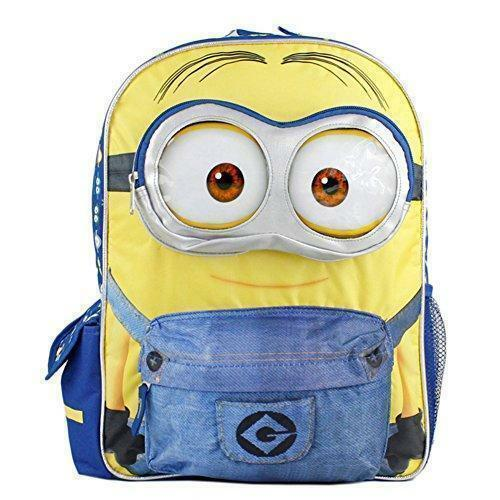 """Despicable Me Minions  Blue School Backpack Minion Backpack 3D Eye Dave 16/"""" Larg"""