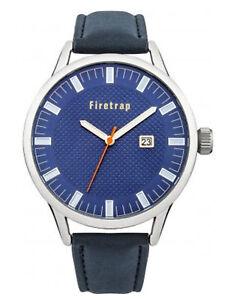 Firetrap Mens Blue Dial and Blue PU Strap Watch FT2012U RRP £35
