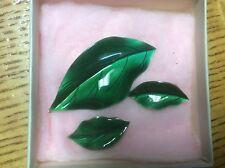 Anton Michelsen Sterling Silver Leaf Clip On Earrings & Pin Enamel Denmark AM EJ