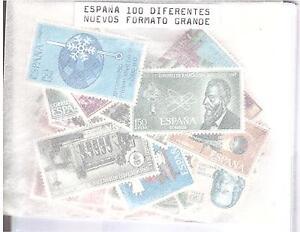 LOTE-100-SELLOS-ESPANA-TODOS-DIFERENTES-NUEVOS-FORMATO-GRANDE