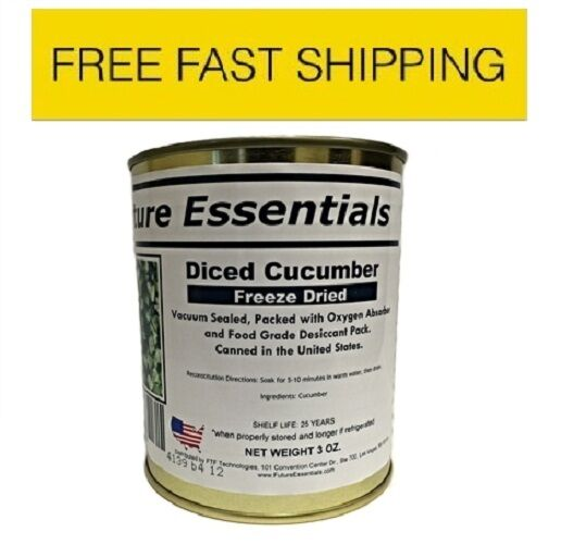 New Case of Future Essentials Freeze Dried Cucumber - 12 Cans