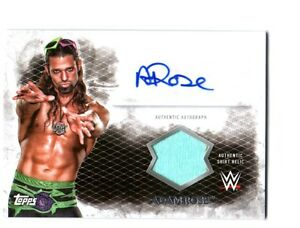 WWE-Adam-Rose-2015-Topps-Undisputed-Autograph-Relic-Card