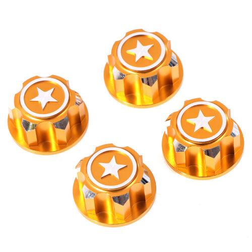 4Pcs RC Car Aluminum 17mm Hex Wheel Nuts Dustproof for 1//8 X-Maxx S SQUk